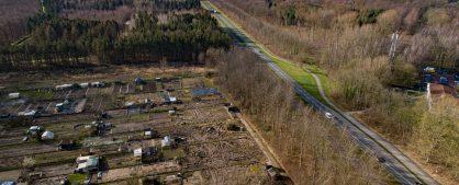 Luchtfoto's februari 2020 Volkstuinvereniging aan N307